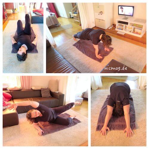 Pilates-Training mit dem youtube-channel von Happy & Fit