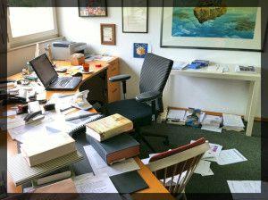 Der Schreibtisch von Peter Prange