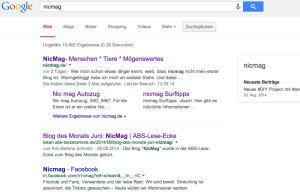 nicmag bei Google