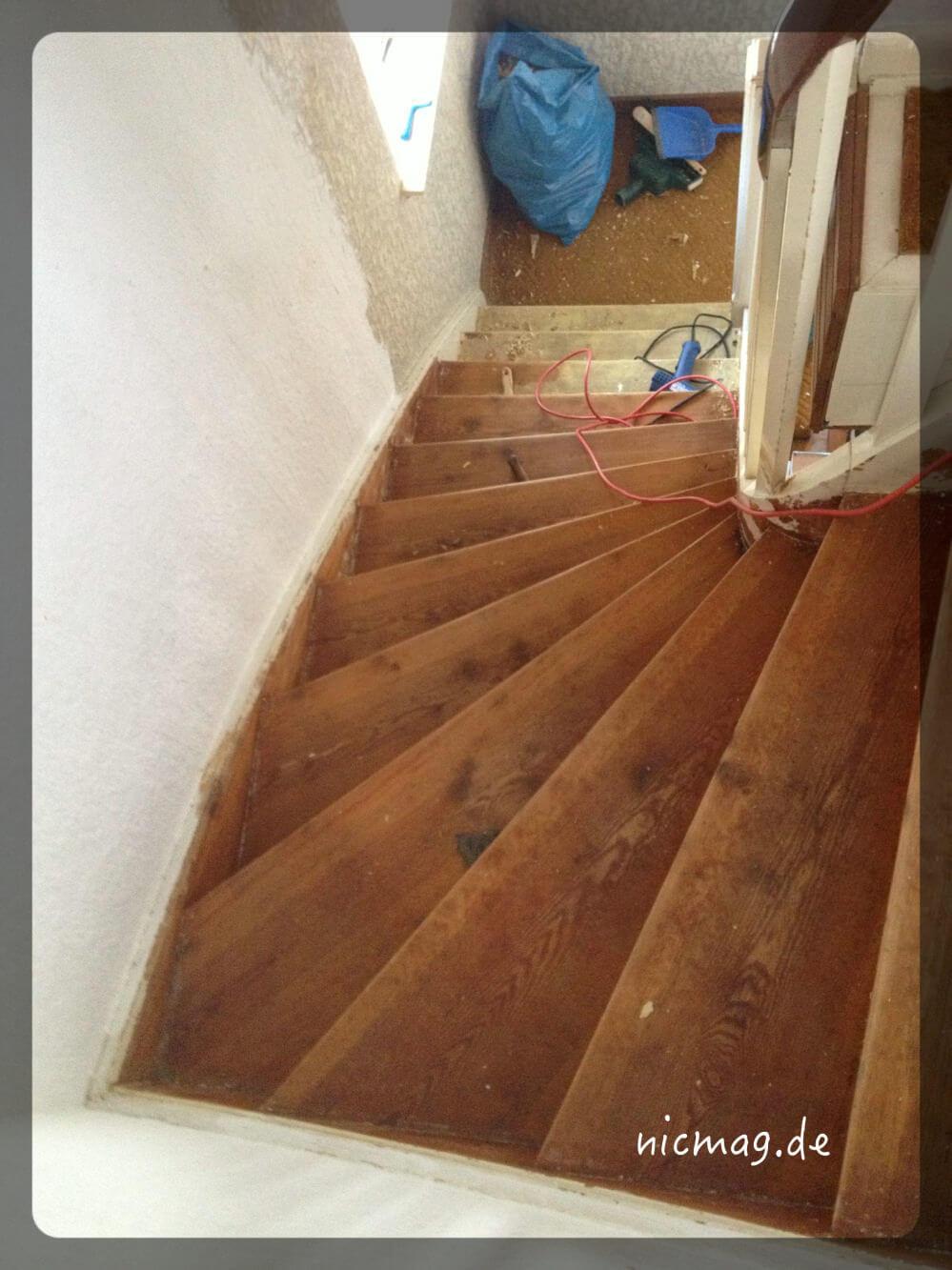 auf die treppe, chalk paint, los …
