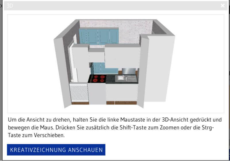 3D-Ansicht blau