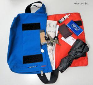 Jans Tasche mit Inhalt