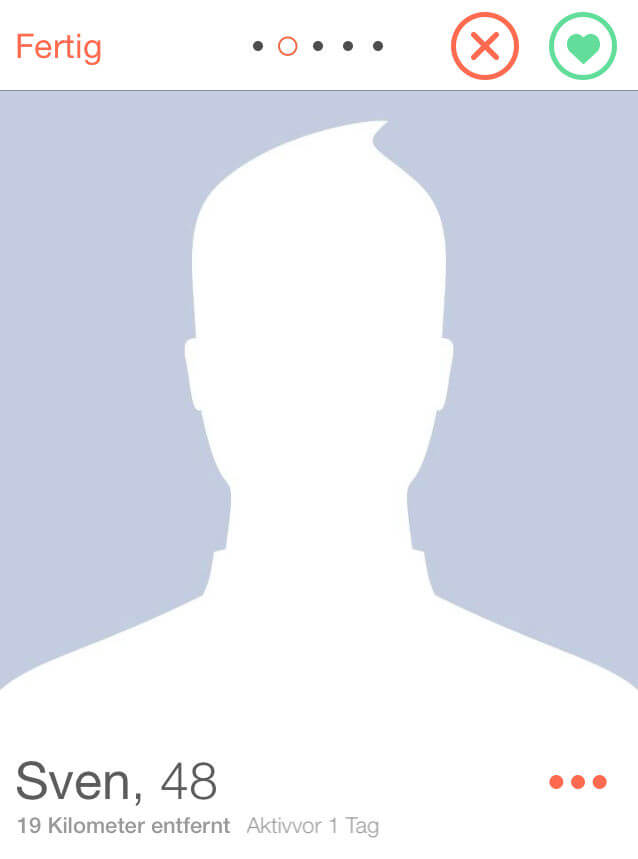 tinder Der Mann ohne Gesicht