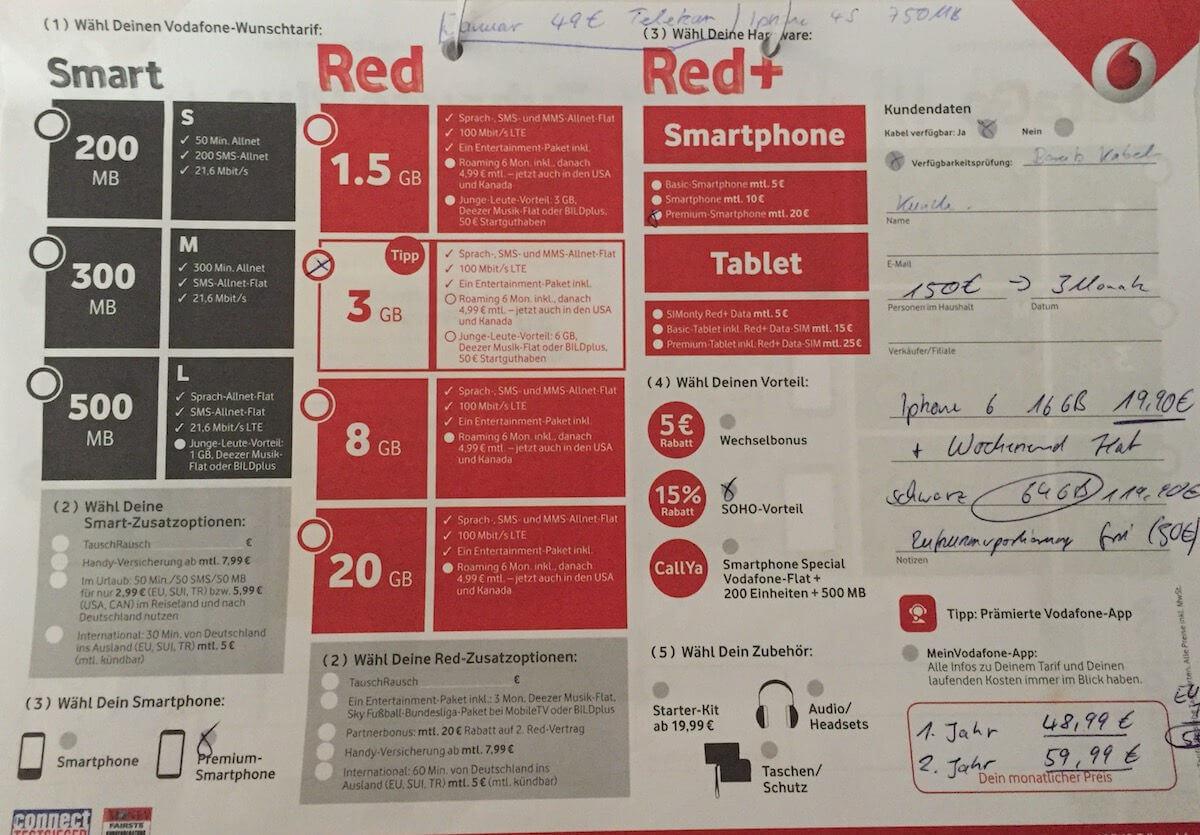 Vodafone Superwochenendflat
