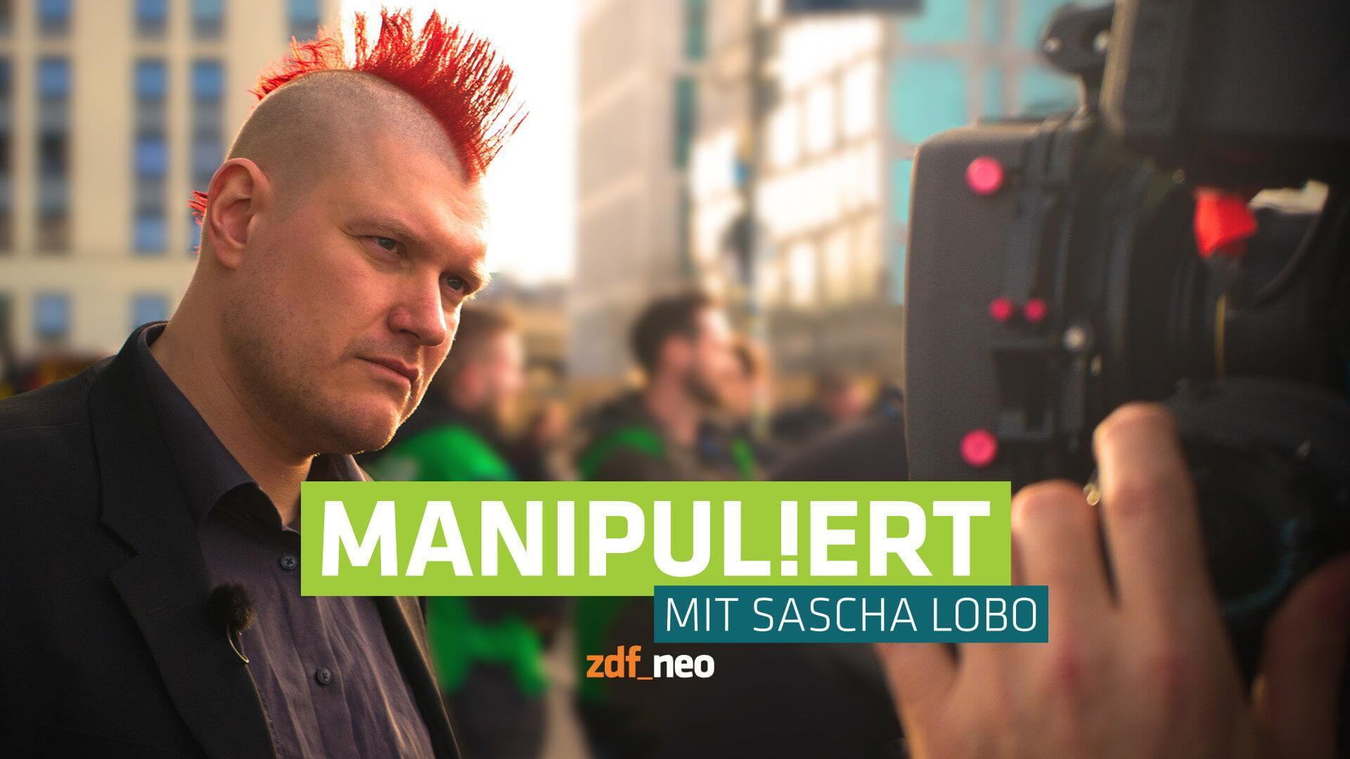 """""""Manipuliert"""" mit Sascha Lobo – Copyright: ZDF/Fernsehecke"""
