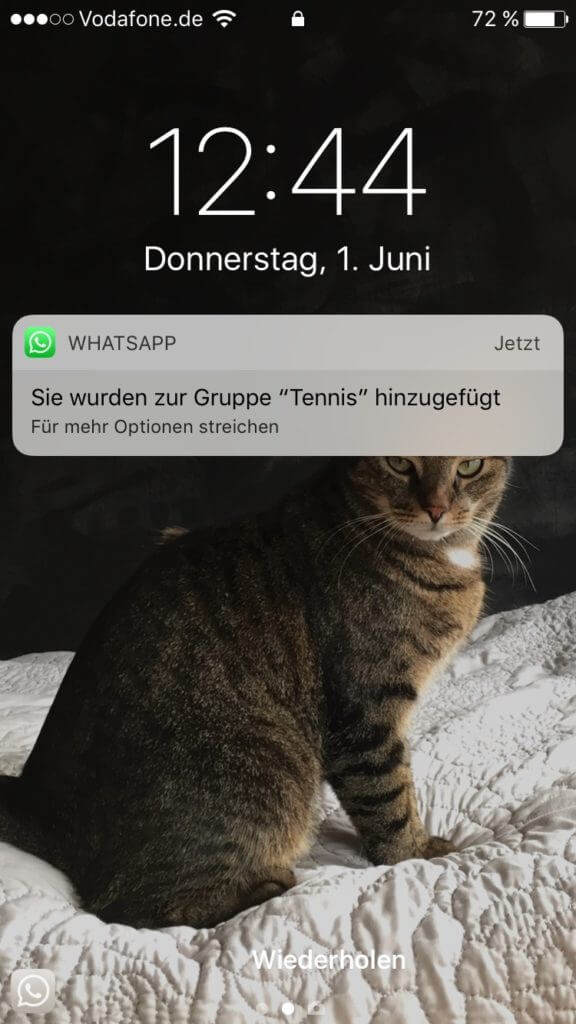 WhatsApp-Gruppe Tennis