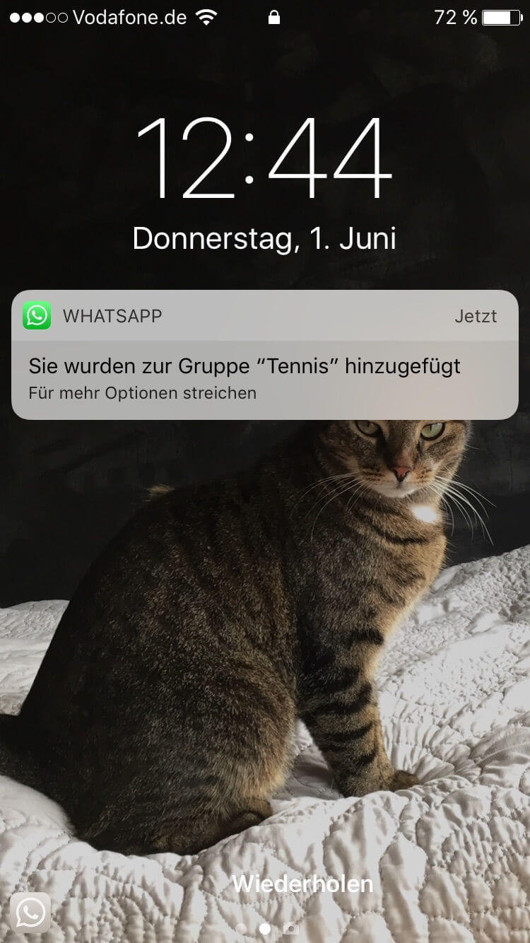 WhatsApp-Gruppe Tennis