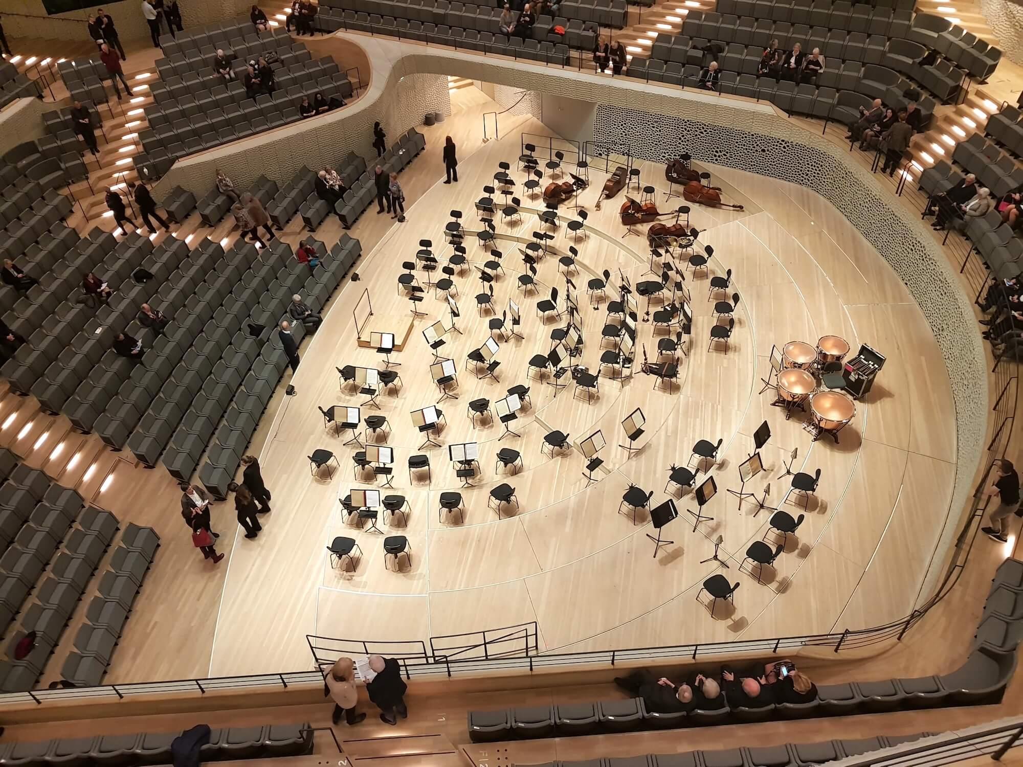 Die Elbphilharmonie in Hamburg, großer Saal – Foto: Nicole Stroschein
