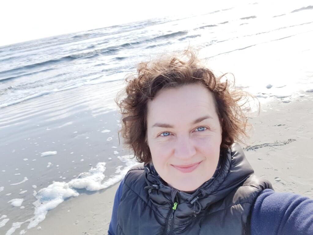 Nic am Strand von St. Peter-Ording – Foto: Nicole Stroschein