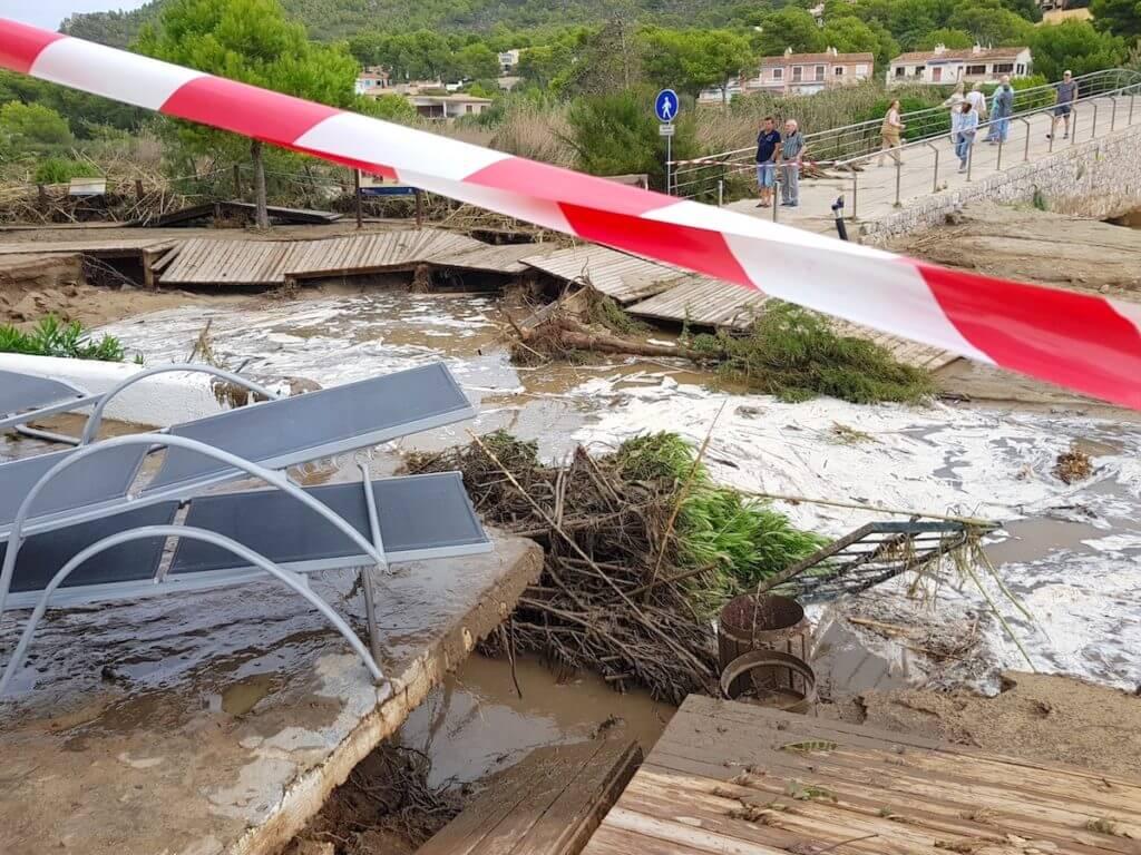 Sturmschaden in Canyamel – Foto: Nicole Stroschein