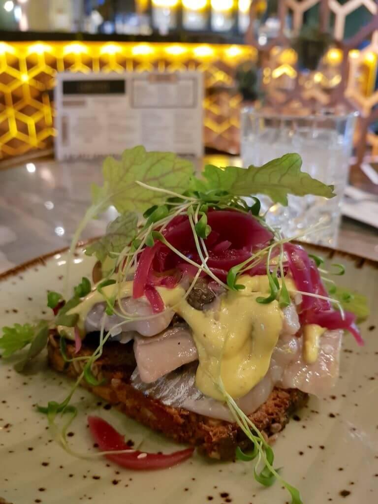 Herring Sandwich, Restaurant Carlton, Kopenhagen –Foto: Nicole Stroschein
