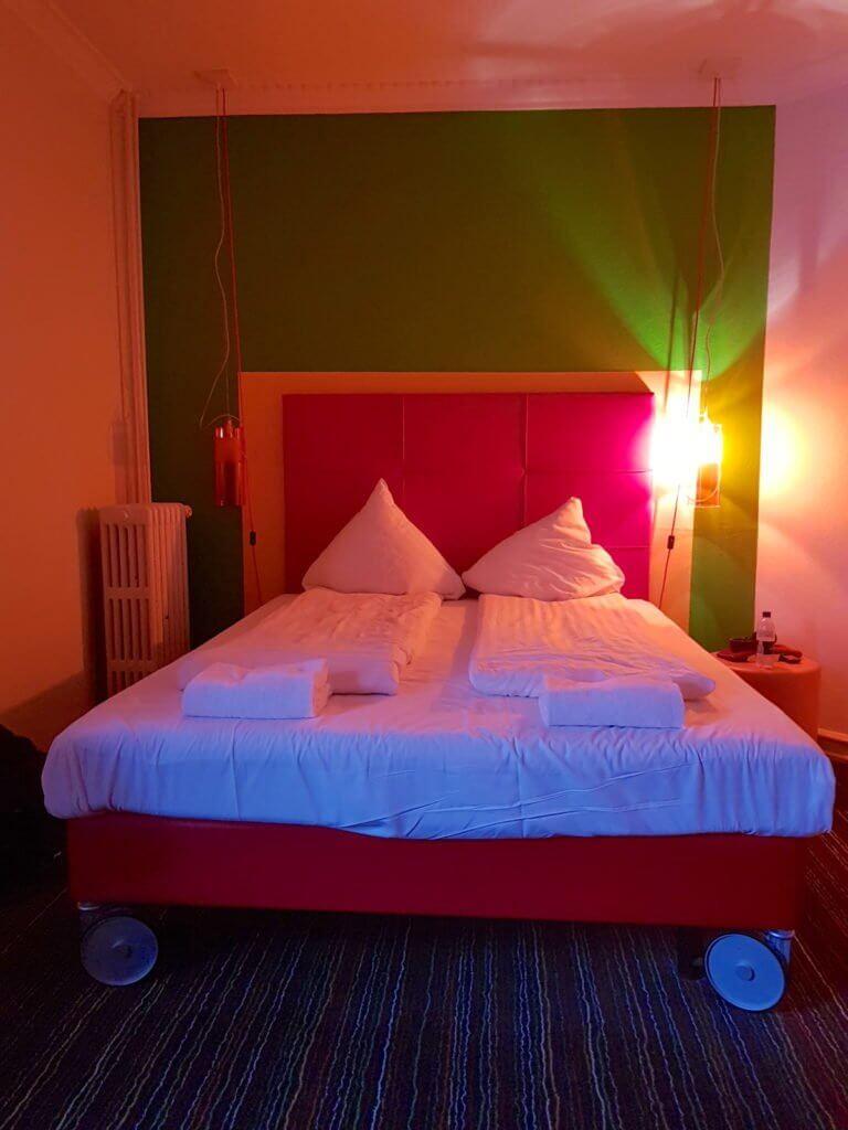 Annex Hostel, Kopenhagen – Doppelbett im Dreierzimmer – Fotos: Nicole Stroschein